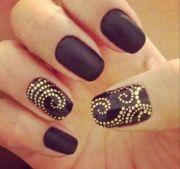 black and gold swirl nails nail