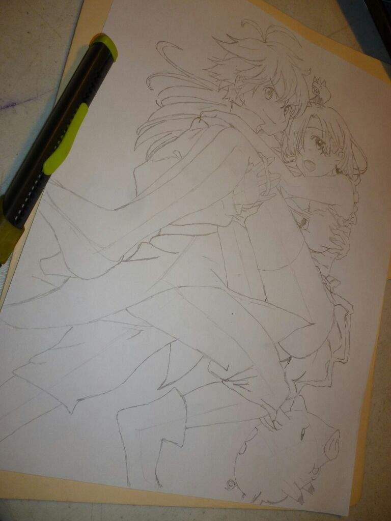Dibujo Nanatsu no TaizaiMeliodas  Elizabeth  Anime Amino