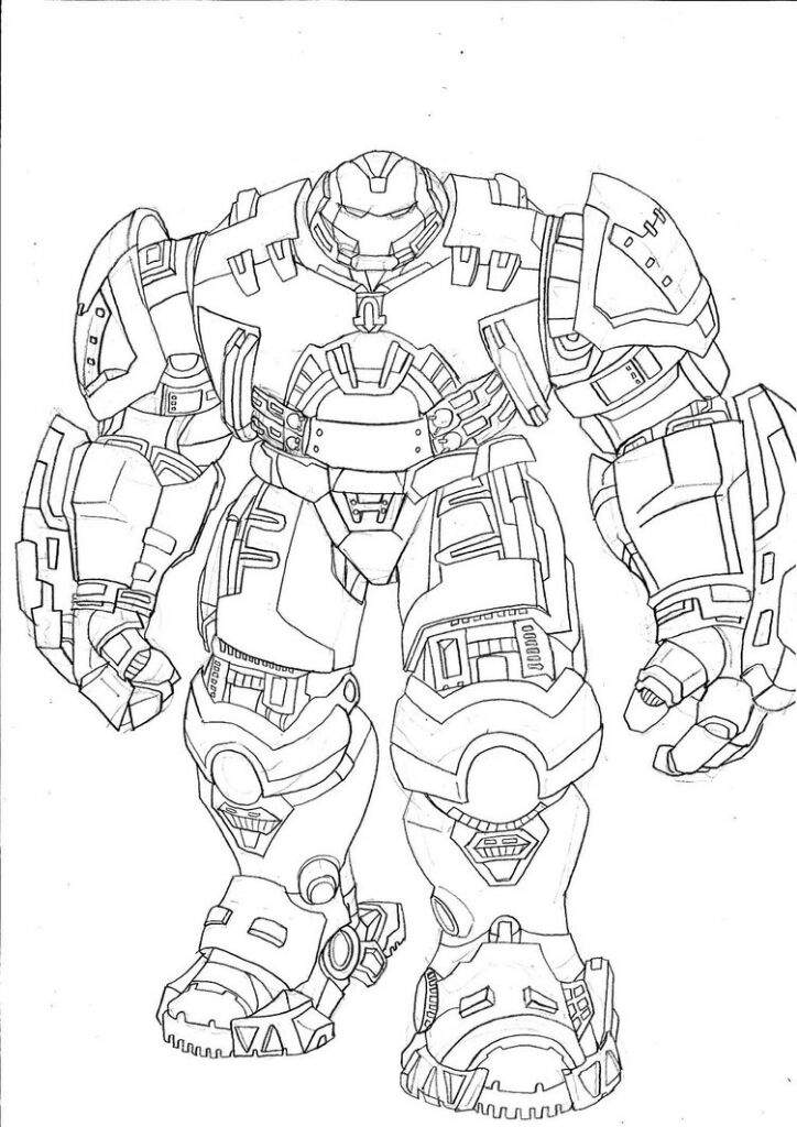 Hulkbuster Coloring Pages Sketch Coloring Page