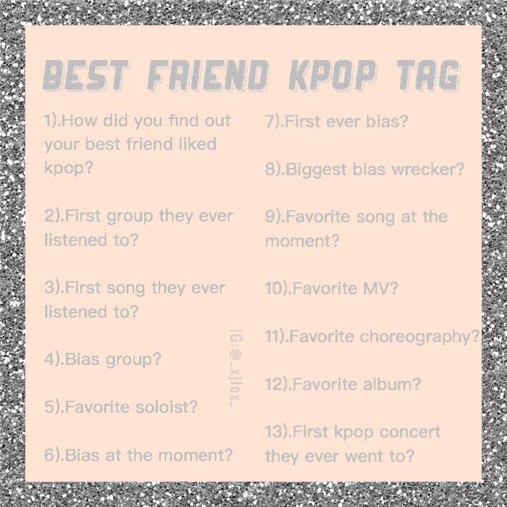 kpop best friend tag