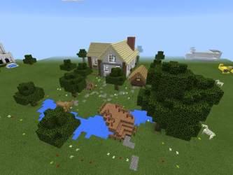 MCPE:Small Cottage Build! Minecraft Amino