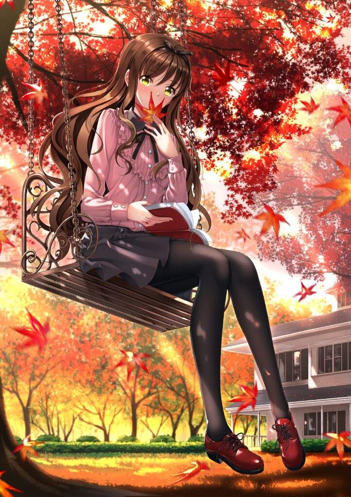Fall Heart Leaves Background Wallpaper Autumn Pic Collection Anime Amino