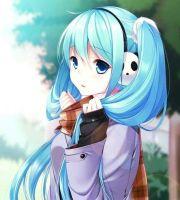 long hair short anime girl