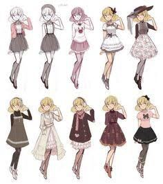 anime girl fashion style