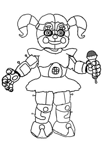 Fnaf Baby Coloring Pages : coloring, pages, Circus, Nights, Freddy's, Amino