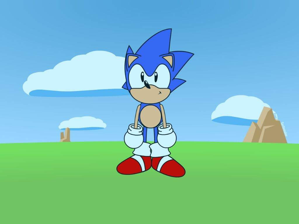 hight resolution of the first thing i did was get some references from the sonic cd opening cutscene i then used those references to make a character model and a basic