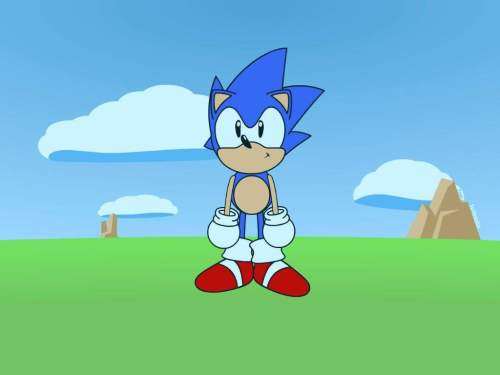 small resolution of the first thing i did was get some references from the sonic cd opening cutscene i then used those references to make a character model and a basic