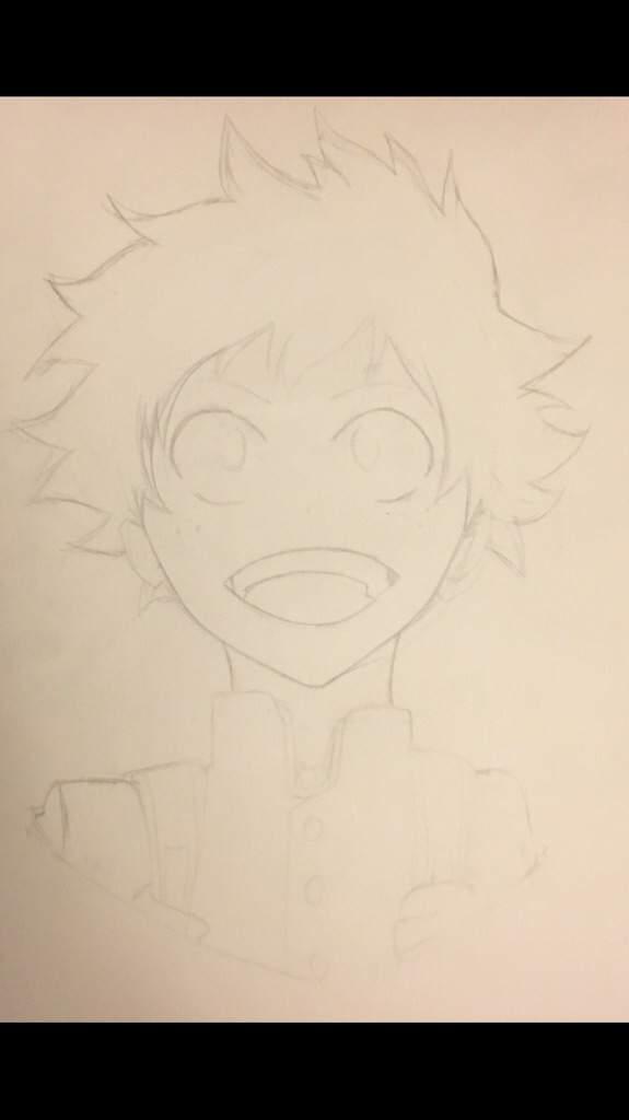 Deku Drawing Easy : drawing, Academia:, Drawing, Process, Anime, Amino