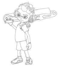 Name Splatoon Inkling Girl By Mono 6jpg Sketch Coloring Page