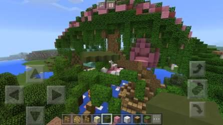 fairy minecraft treehouse build rose hibiscus chime wind progress