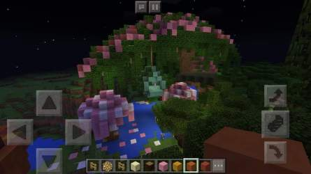 fairy treehouse minecraft moon crescent waxing nighttime