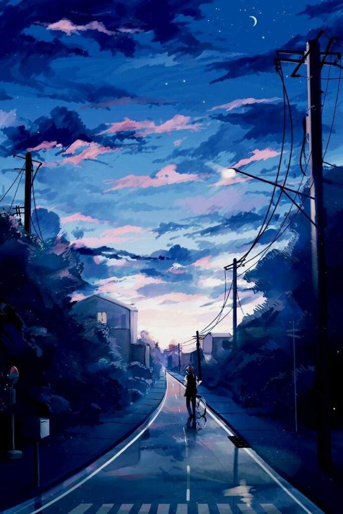 Blue Beautiful Anime Scenery