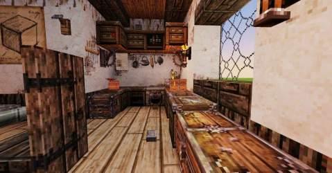 medieval kitchen room dining interior minecraft episode series