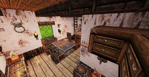 medieval interior minecraft kitchen room dining episode series