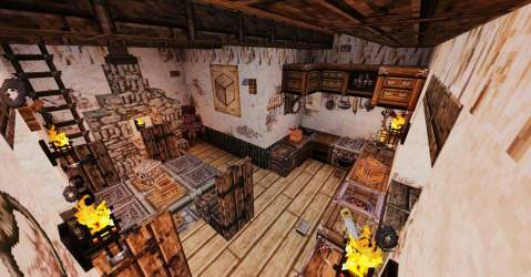 Fancy Minecraft Medieval Kitchen