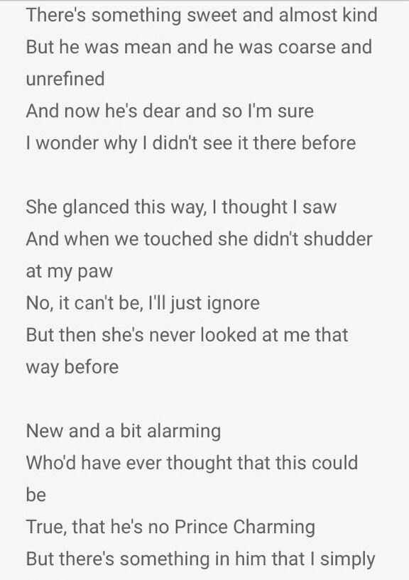 beauty and the beast lyrics # 20