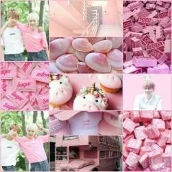 aesthetic pink collage yoonkook bts aesthetics yellow yoonmin moodboards army amino