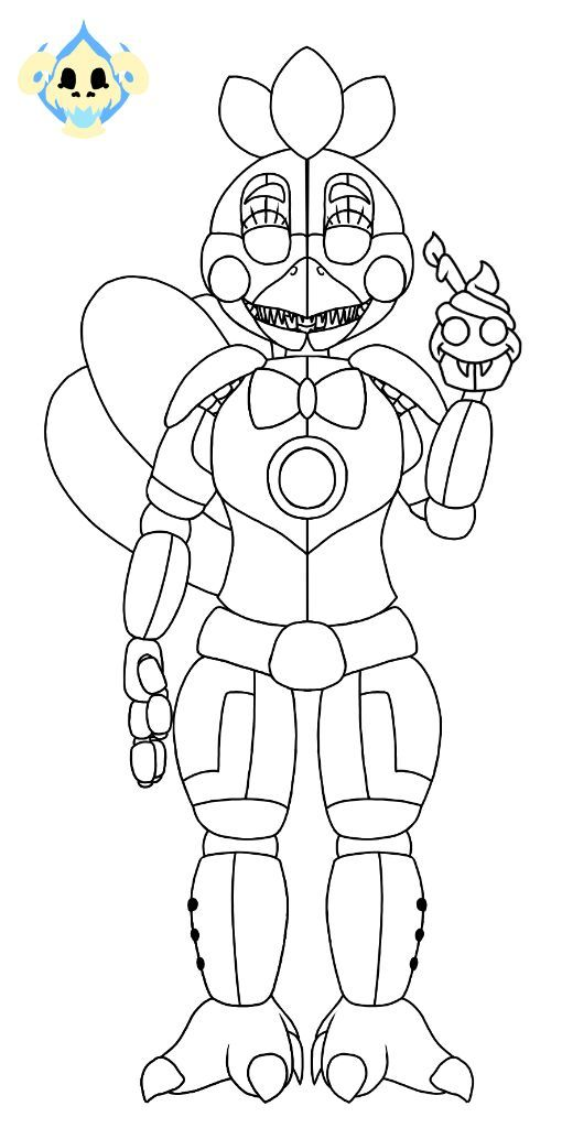 F Naf Fun Time Freddy Coloring Page Pictures to Pin on