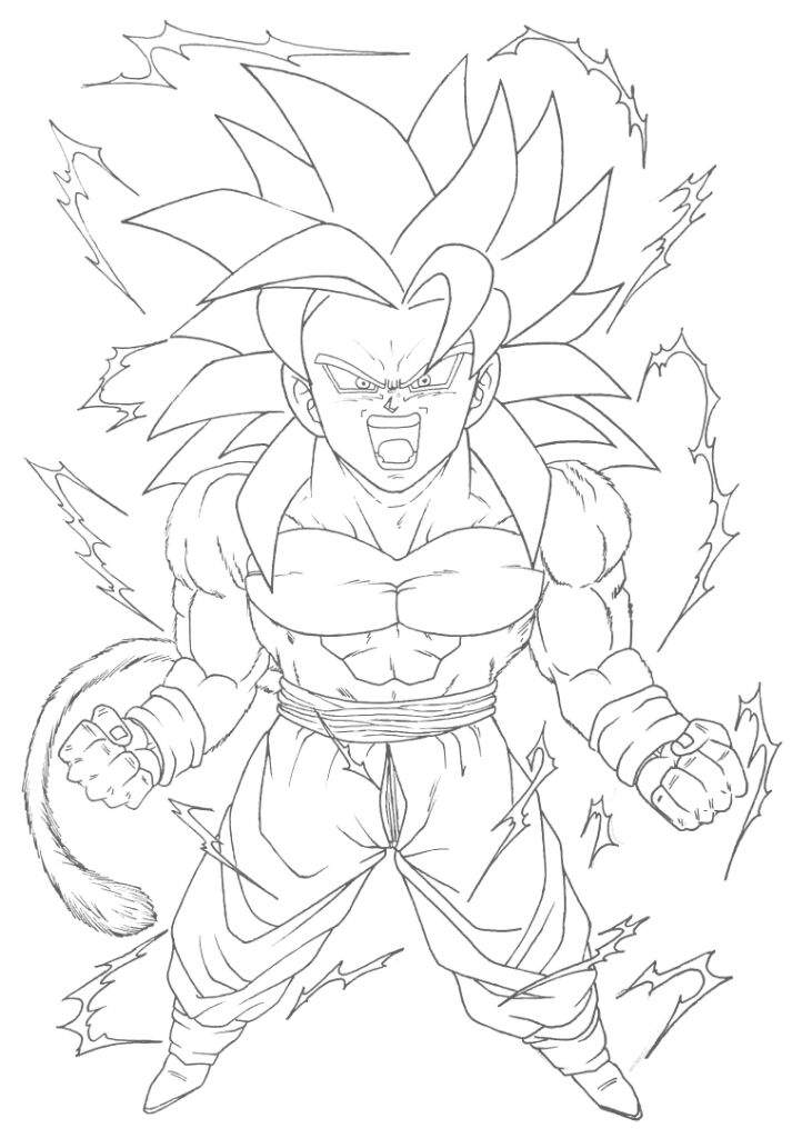 Goku Ssj4 Drawing : drawing, Drawing, Installer