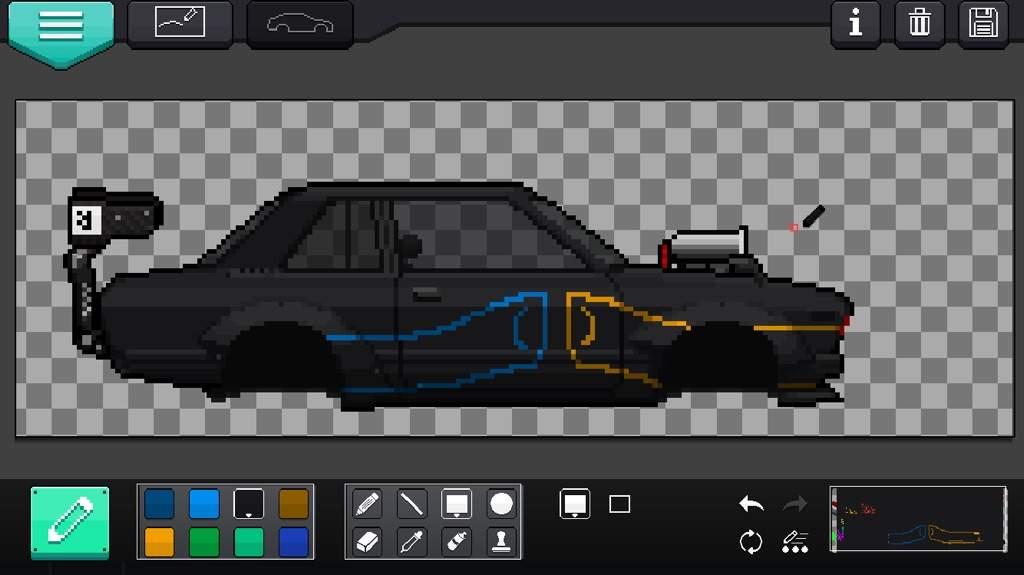 pixel car racer art