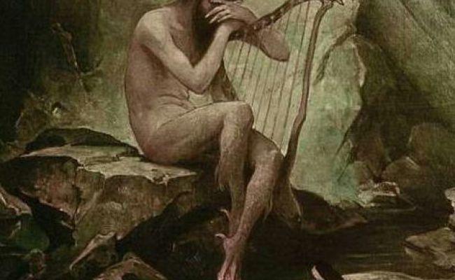 Fossegrimen The Nude Handsome Fiddler Scandinavian