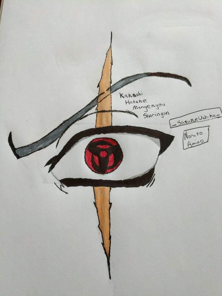 Sharingan Eye Drawing : sharingan, drawing, Drawing:, Kakashi, Mangekyou, Sharingan, Naruto, Amino