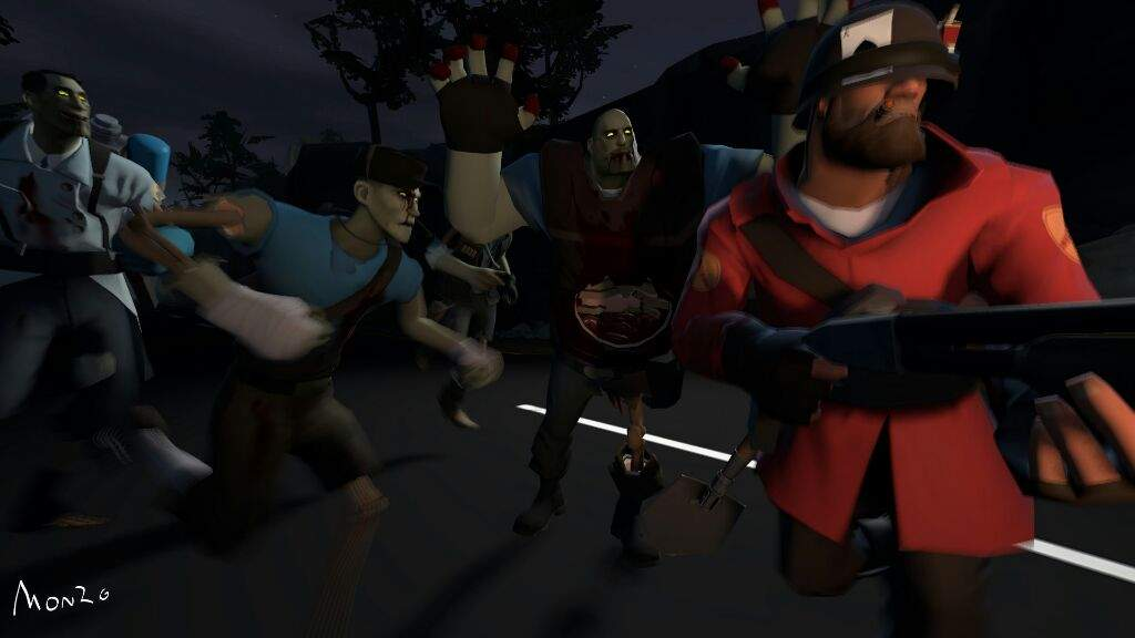 sfm poster zombies team