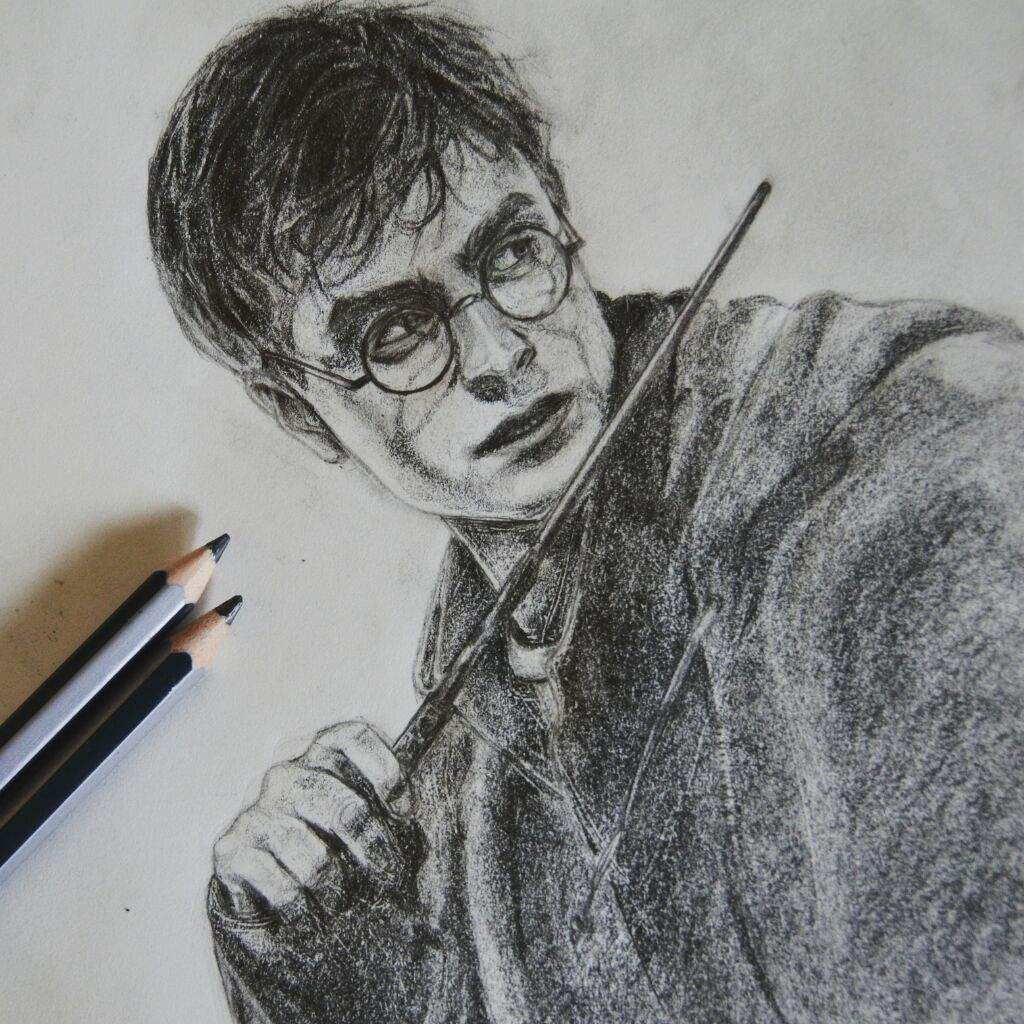 Realistic Harry Potter Pencil Drawing