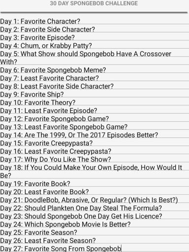 Spongebob Challenge : spongebob, challenge, Spongebob, Challenge, SpongeBob, SquarePants, Amino