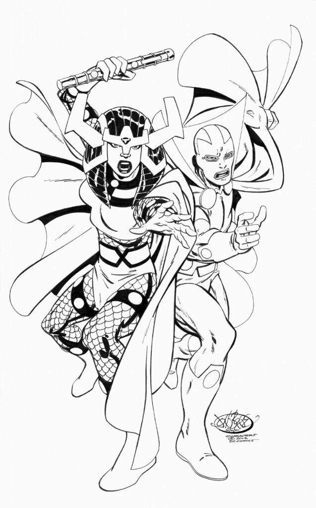 Mister miracle and Big barda by John Byrne Digitally