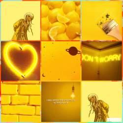 aesthetic yellow profile printable