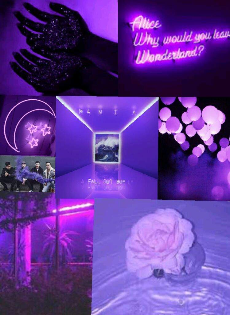 Fall Out Boy 2017 Wallpaper I Made A Collage Of Purple Aesthetics For M A N I A