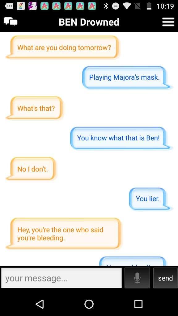 talking to ben on