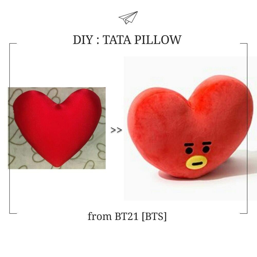 bt21 tata diy pillow army s amino