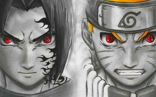 Naruto E Sasuke Desenhado A Lapis Lifeanimes Com