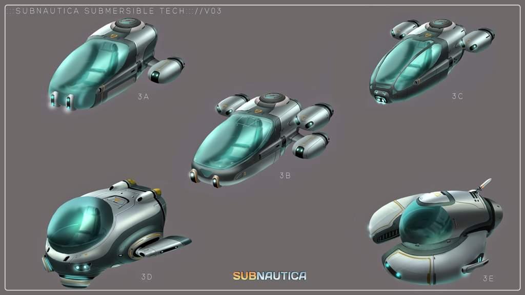 seamoth concept arts subnautica