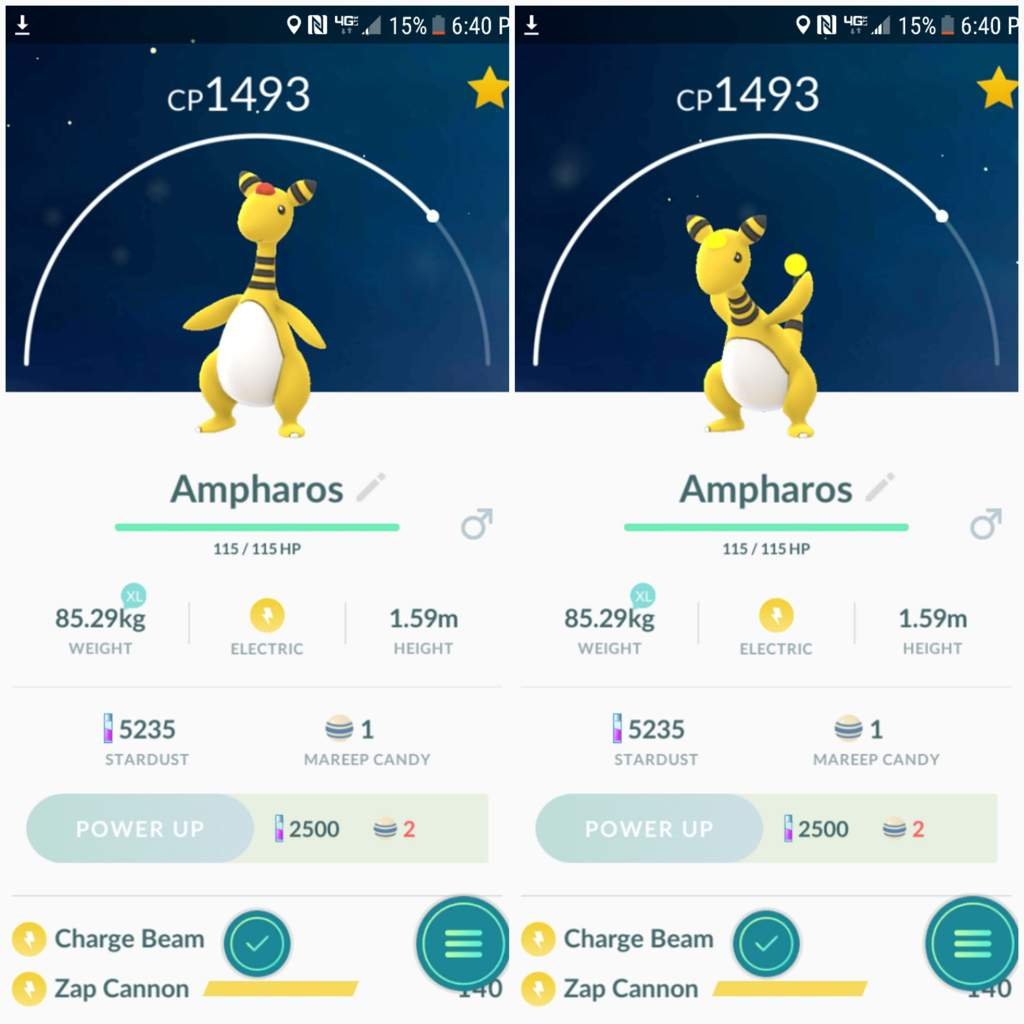 ampharos and level 30