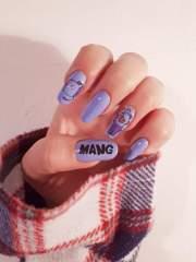 bts nail art bt21 boyz with fun