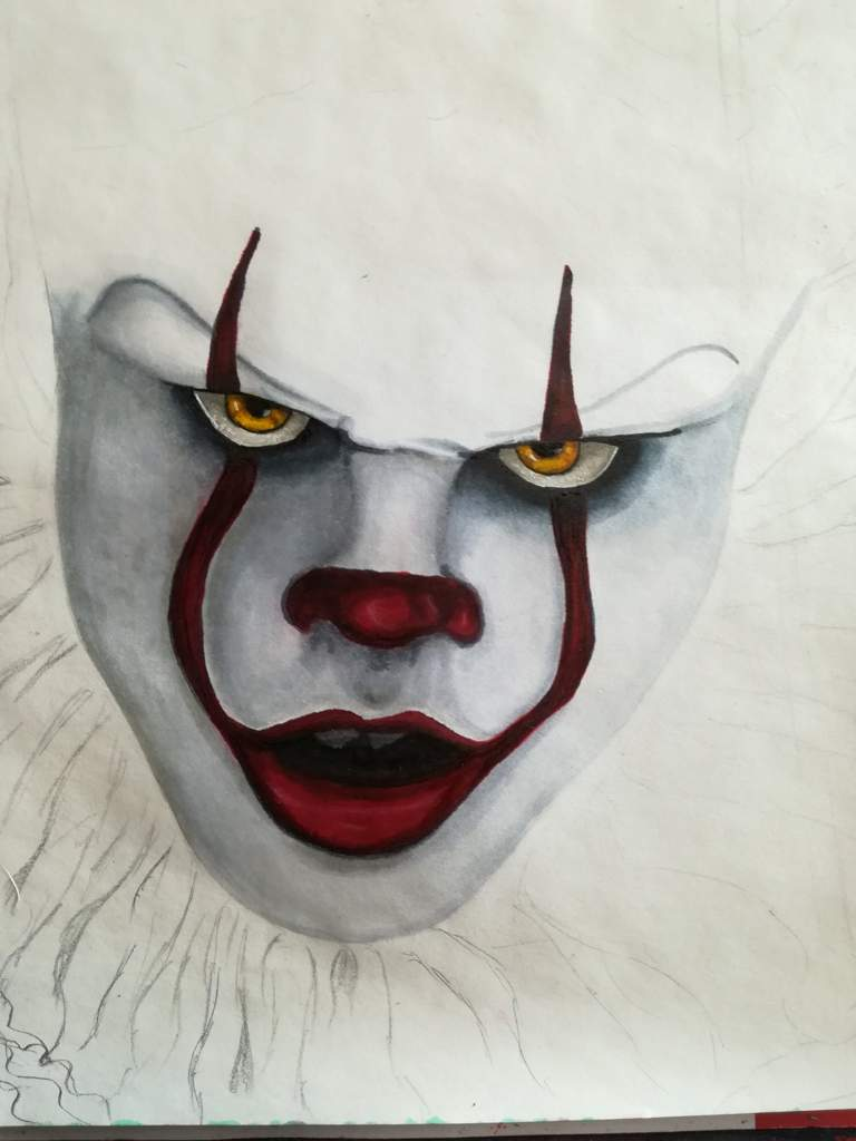 How To Draw Pennywise Face : pennywise, Pennywise, Outline, Drawing, Barnes, Family