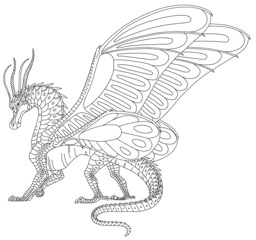 Image: Wings of Fire: SilkWing Free to Use Lineart! by