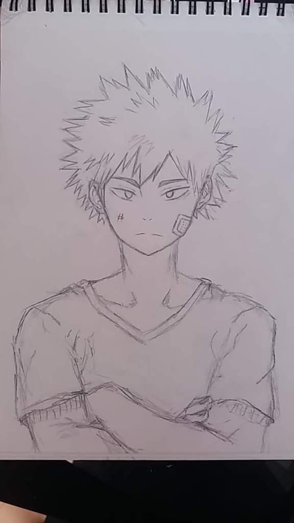 Easy Bakugou Drawing : bakugou, drawing, Bakugou, Doodle?, Academia, Amino