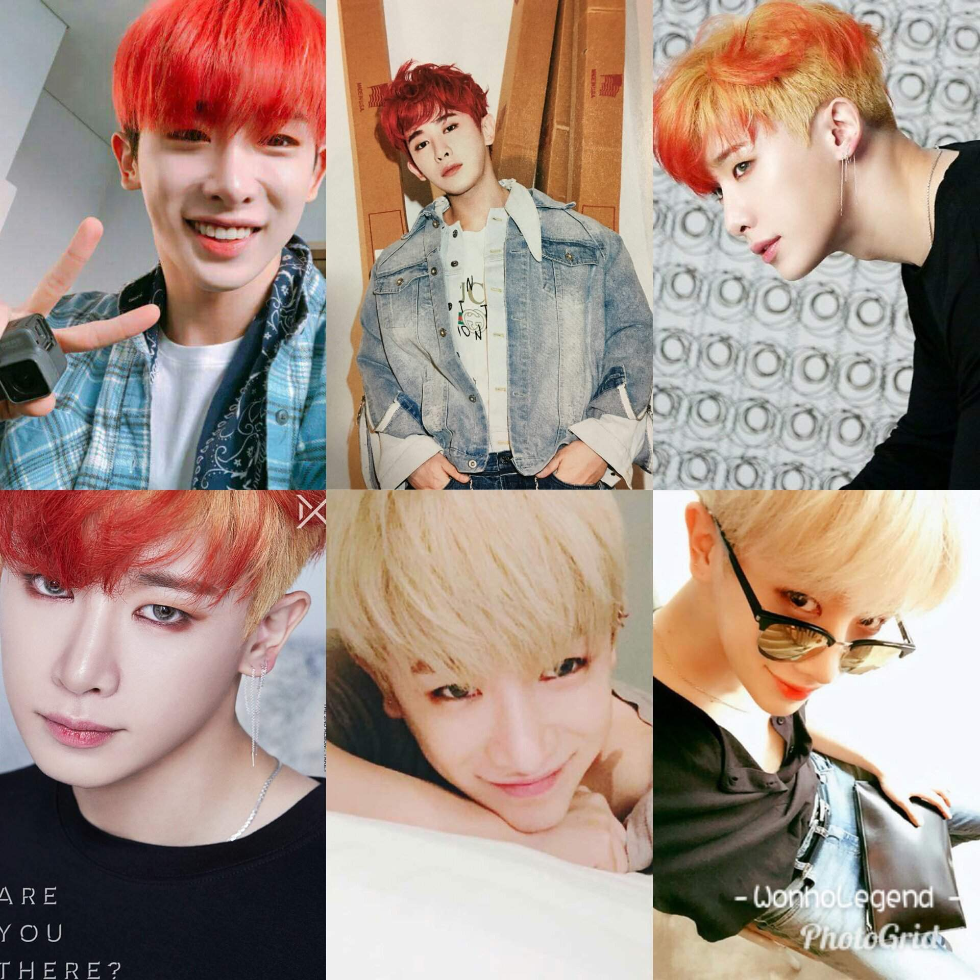 ALL hair colors Wonho had so far Which one would you pick? Leave some  comments!!!   MONBEBE Amino