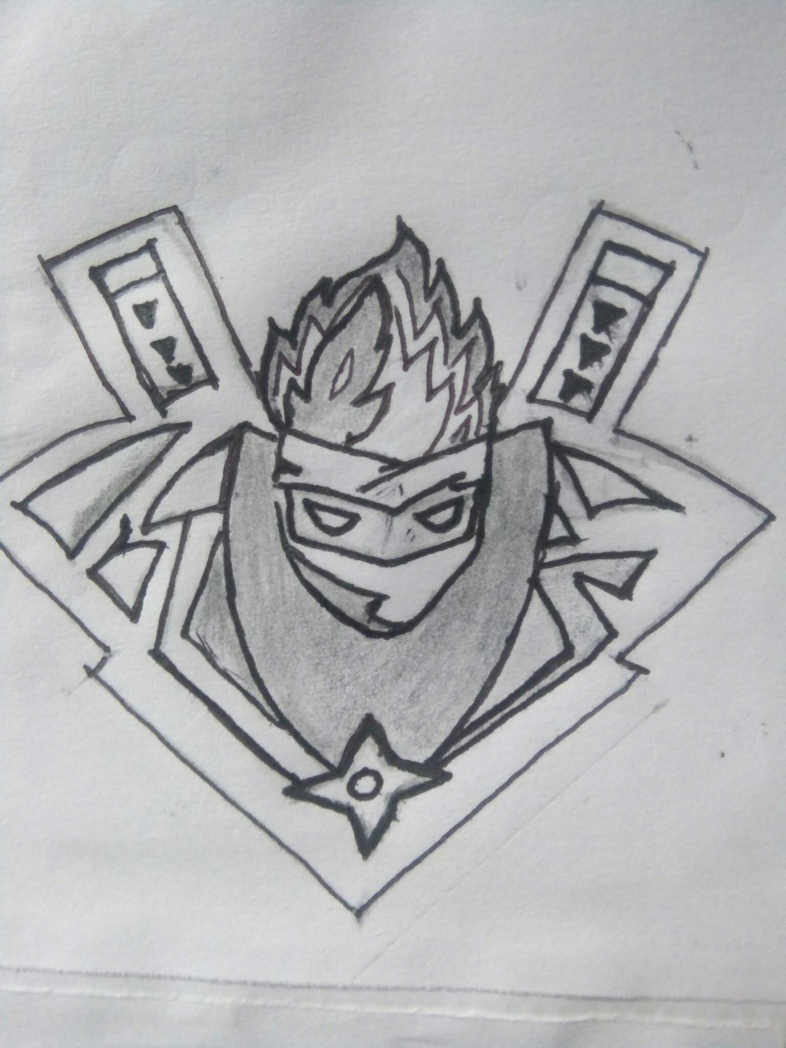 How To Draw Ninja Logo : ninja, Ninja, Fortnite:, Battle, Royale, Armory, Amino
