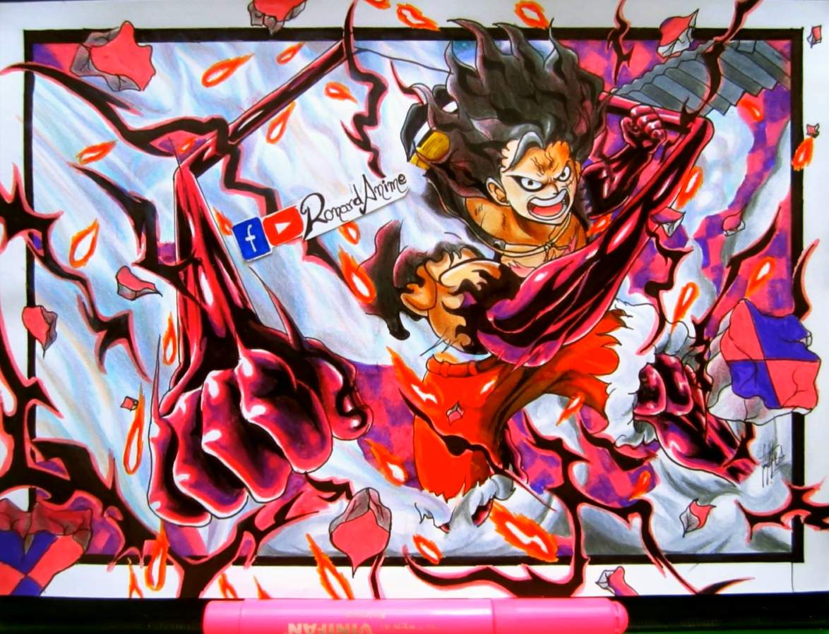 Kaos anime one piece luffy gear fourth baju distro manga jepang. Luffy Gear Fourth Snake Man | •Arte Amino• Amino