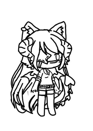 Gacha Life Coloring Pages Wolf