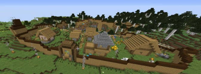 old 1 14 snapshot village wall build Minecraft Amino