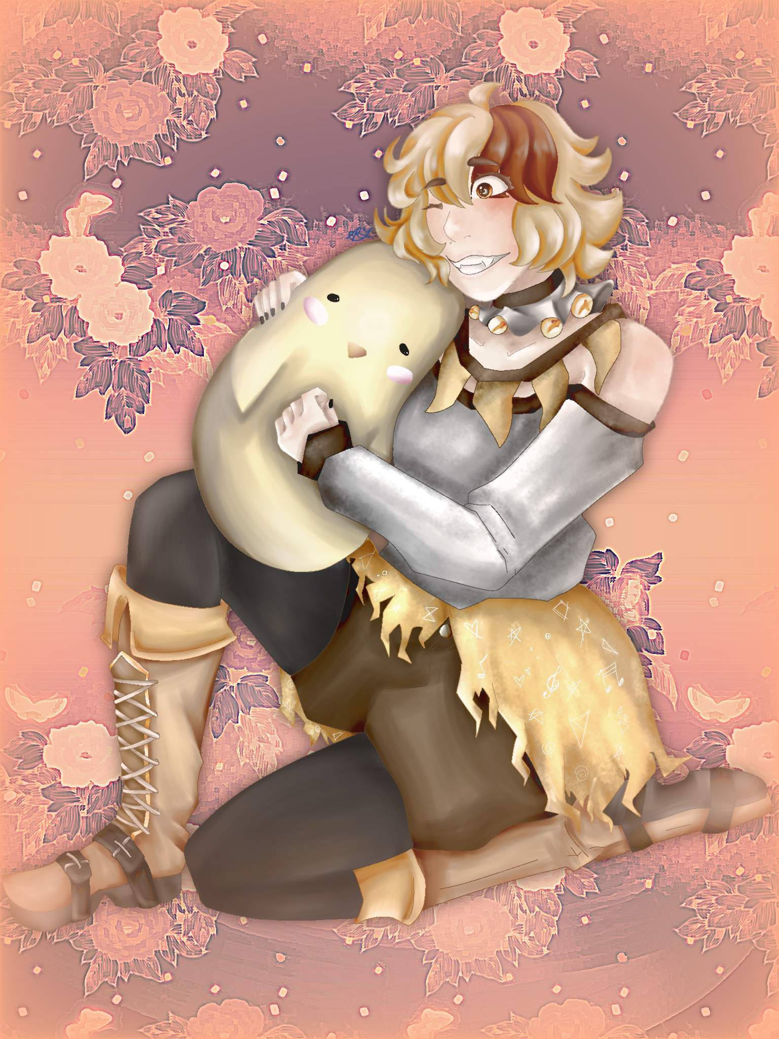 Goldy But She S Hugging A Fat Chicken