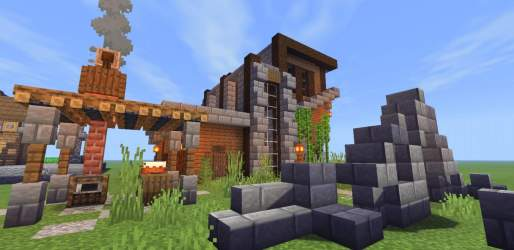Modern Medieval Style Library Minecraft Amino