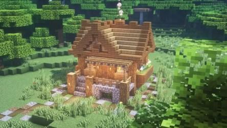 Easy Minecraft build: Small Survival House Minecraft Amino