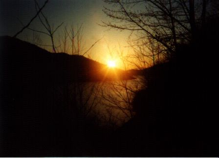 Sunset at Fontana Dam